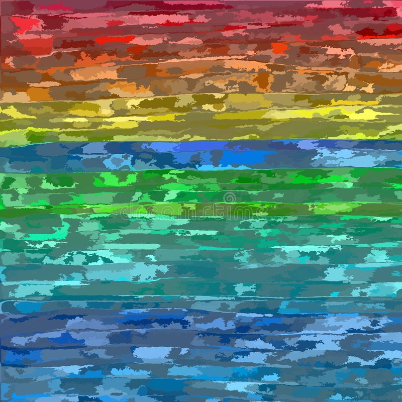 Rainbow colored background. Multicolored rainbow stripes background-vector illustration. Grunge backdrop royalty free illustration