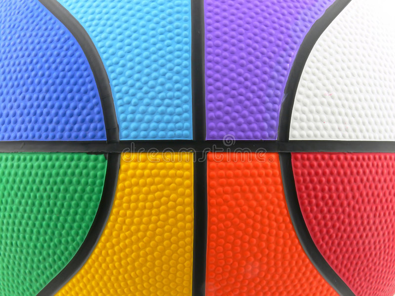 Rainbow colored basket ball background royalty free stock images
