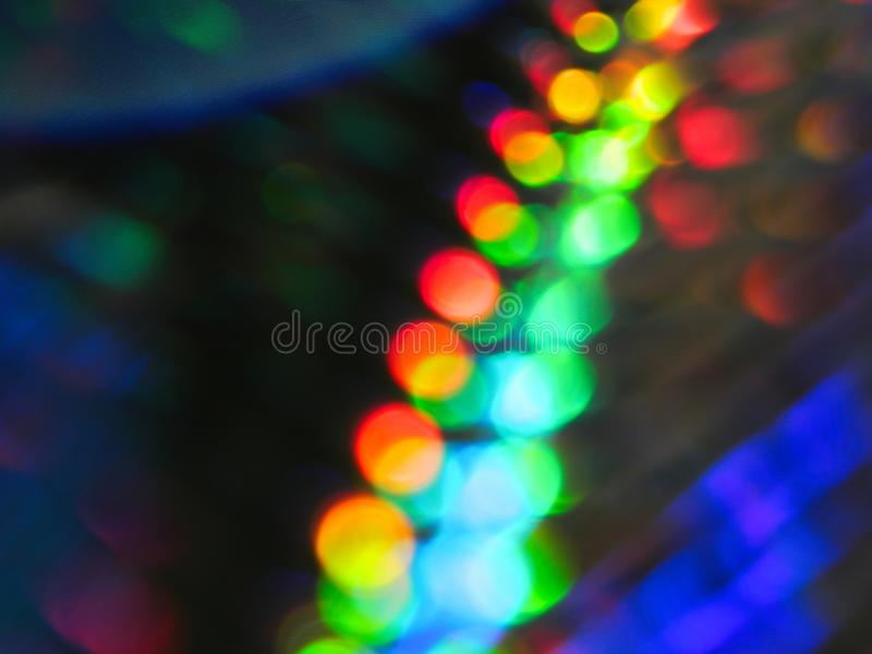 Bright and colorful bokeh rainbow abstract background royalty free stock photography