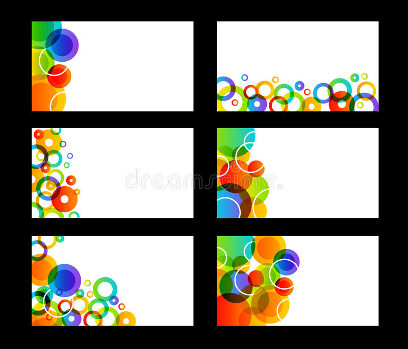 Rainbow Colored Business Cards Royalty Free Stock Image
