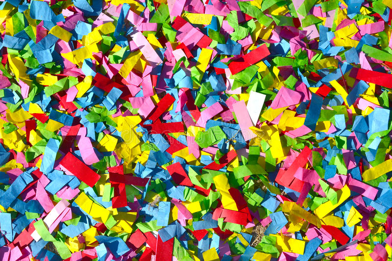 Rainbow Colored Confetti Abstract Background Texture. Rainbow colored confetti background texture royalty free stock photography