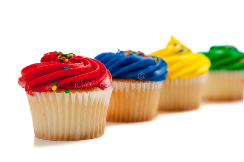 Download Rainbow Colored Cupcakes Royalty Free Stock Photography - Image: 11195577