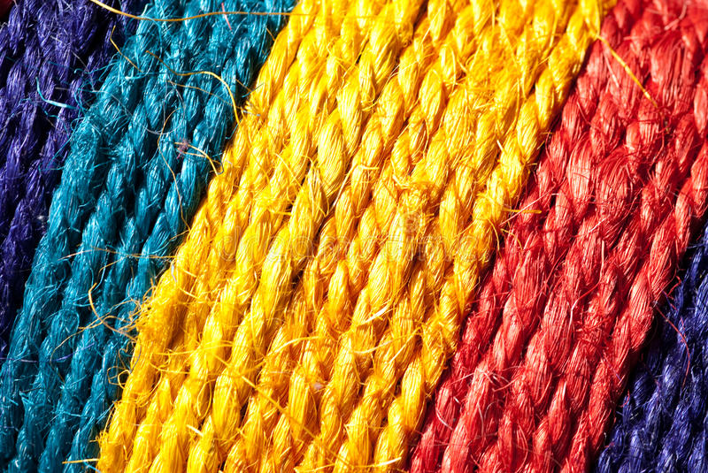 Download Rainbow-colored hemp rope stock photo. Image of cyan - 17277514