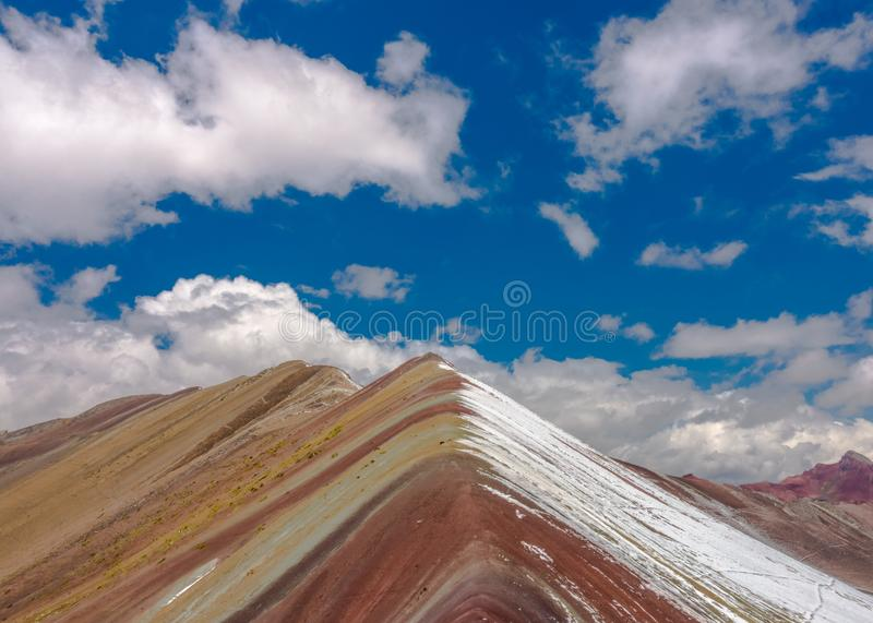 The rainbow colored moutains stock photo