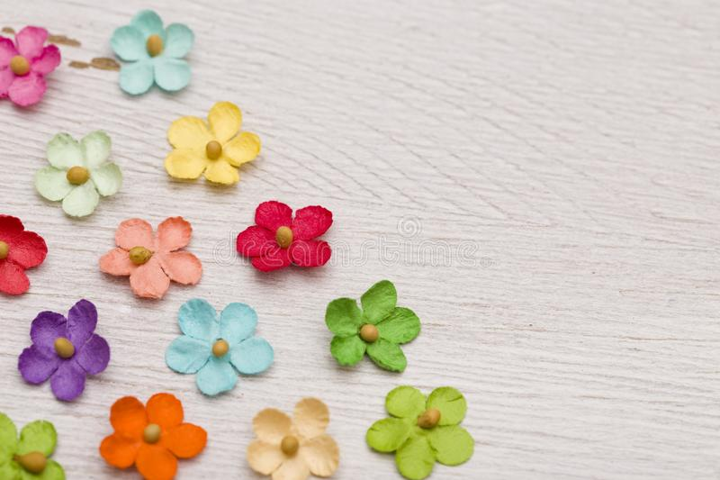 Paper Flower Background. Rainbow Colored Paper Flower Background royalty free stock images