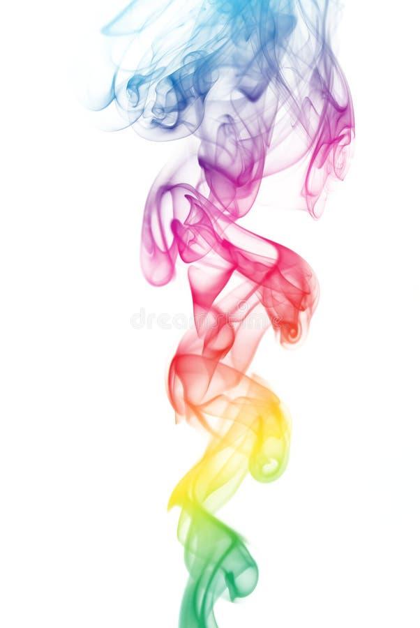 Rainbow Colored Smoke royalty free stock photography