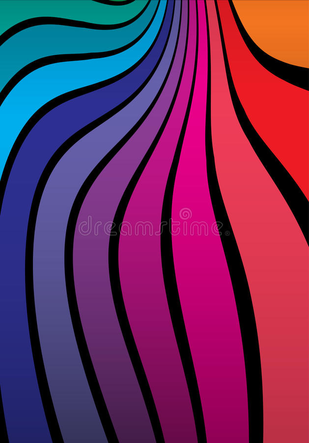 Rainbow colored space vector stock image