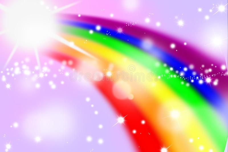 Rainbow on colorful background, rainbow backgrounds abstract vector illustration