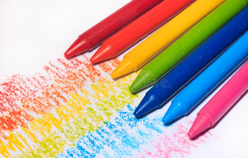 Rainbow Colorful Crayon Color For Children Stock Illustration ...