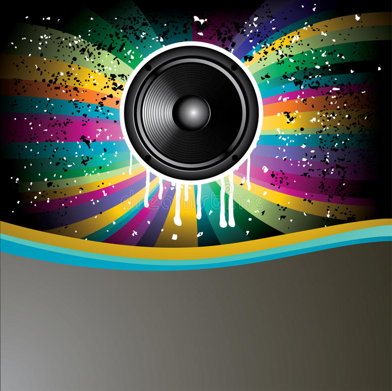 Rainbow Colorful Discotheque Event Flyer Stock Images