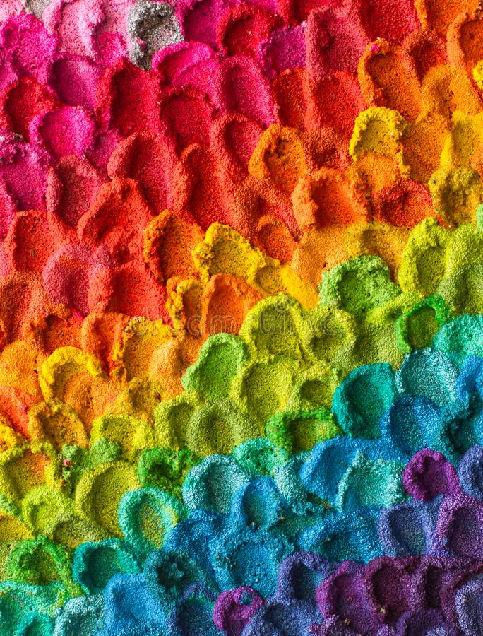 Rainbow Colorful Painted Textured Background stock images