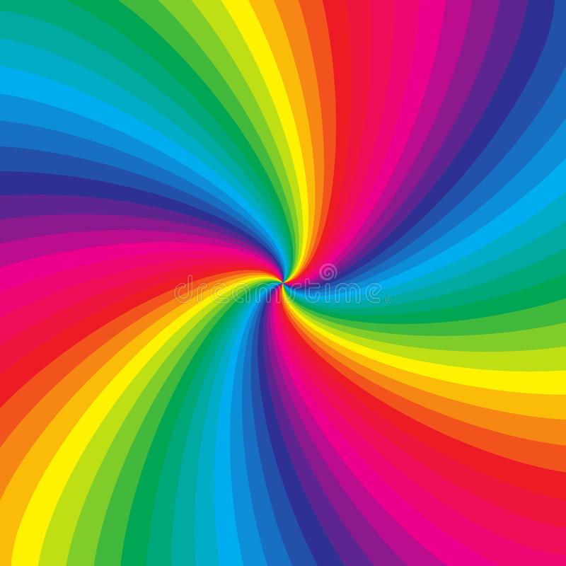 Rainbow colorful spiral background vector illustration