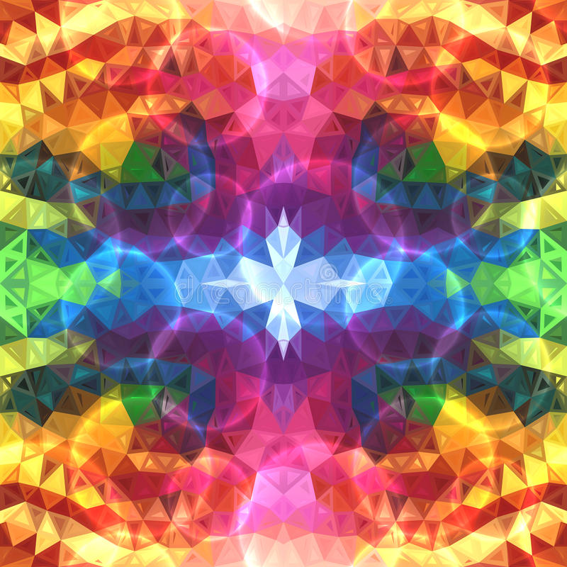 Rainbow colors abstract shining triangles stock illustration
