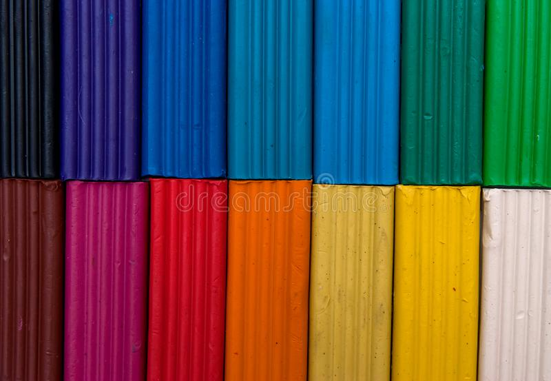Rainbow colors clay for child royalty free stock photos