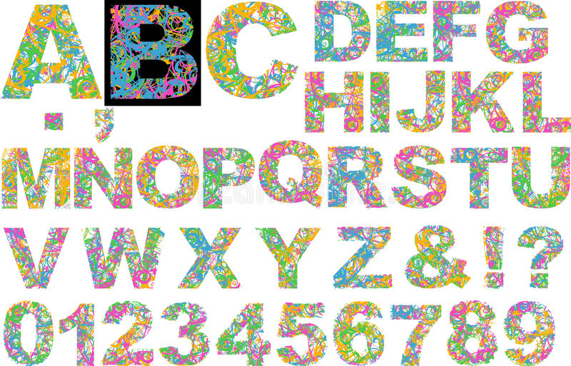 Download Rainbow Colors Curves Alphabet Stock Illustration - Illustration of kindergarten, colour: 4518946