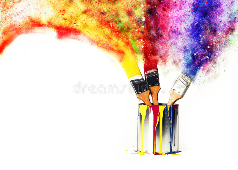 Rainbow of Colors from Primary Colors stock images