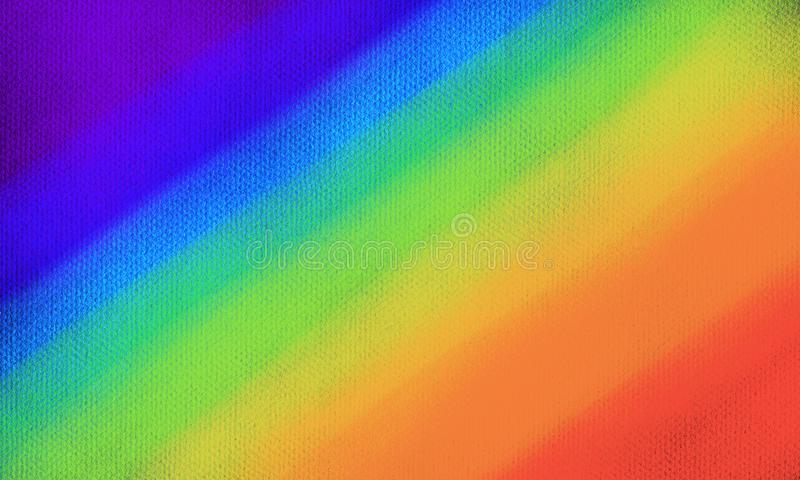 Rainbow colors shade on white paper. Abstract watercolor red, green, yellow, orang stripe on white background vector illustration