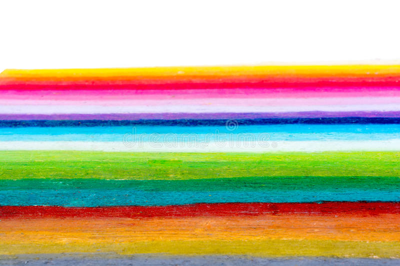 Rainbow colors stripes. Rainbow colors are painted as stripes stock photography