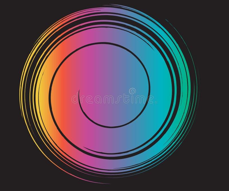 Fluid Rainbow Swirl Template vector illustration