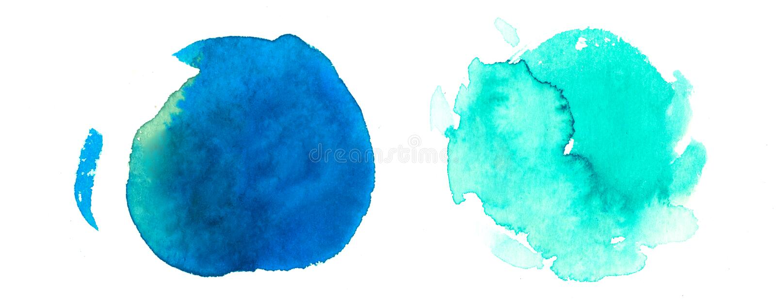 Rainbow colors watercolor paint stains backgrounds stock illustration
