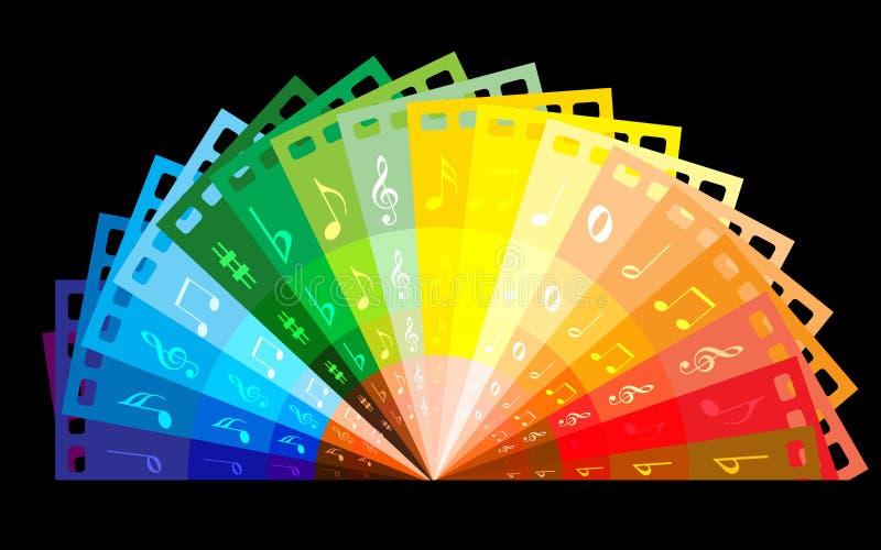 Rainbow colour film stock illustration