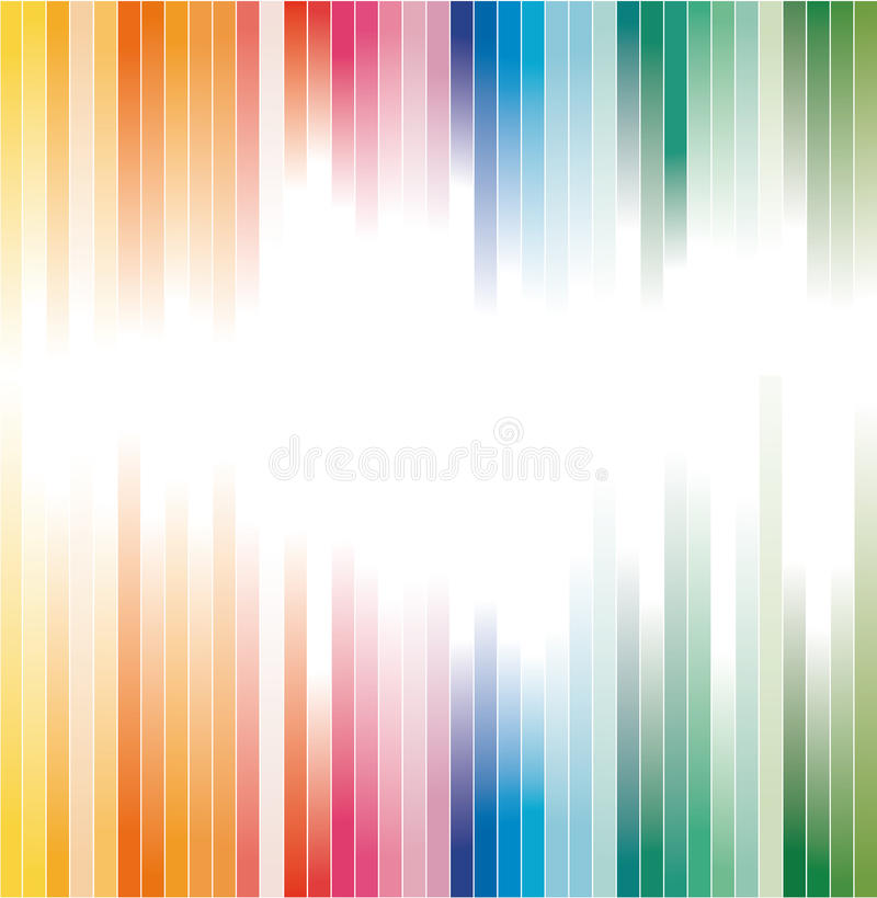 Rainbow Colours Striped background for Brochure vector illustration