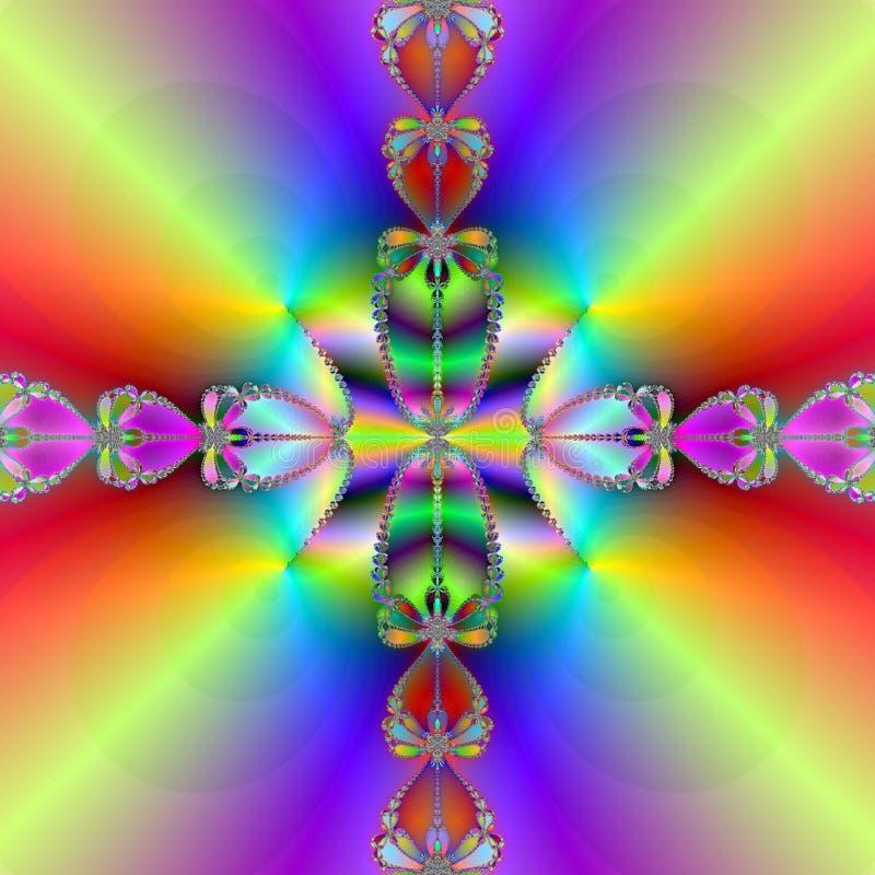 Rainbow crossing vector illustration
