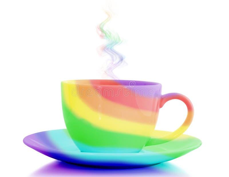 Rainbow cup stock image