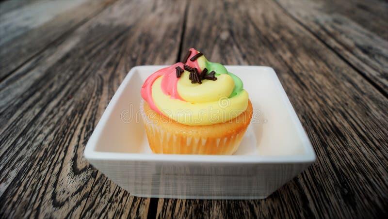 Rainbow cupcake royalty free stock images