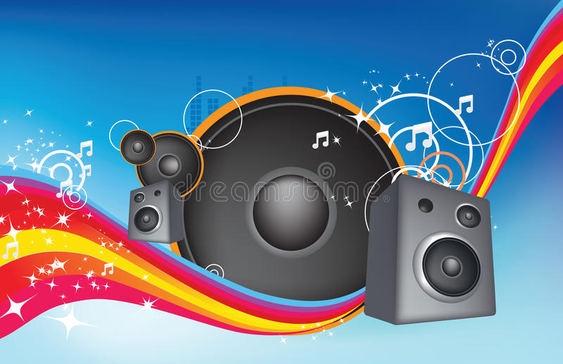 Rainbow dance vector illustration