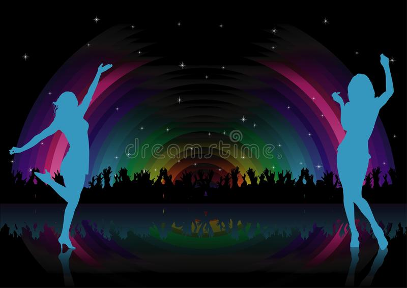 Rainbow Dance Party Royalty Free Stock Photography