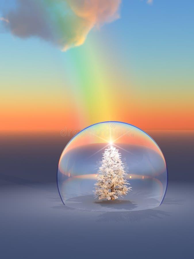 Rainbow dell'albero di Natale illustrazione vettoriale