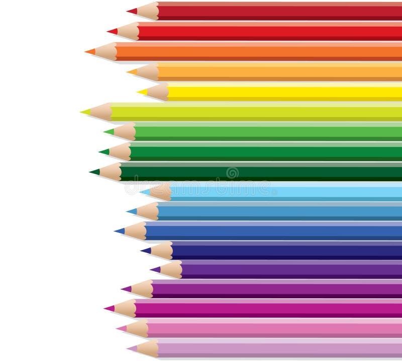 Rainbow della matita royalty illustrazione gratis
