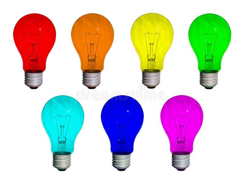 Rainbow delle lampade fotografia stock