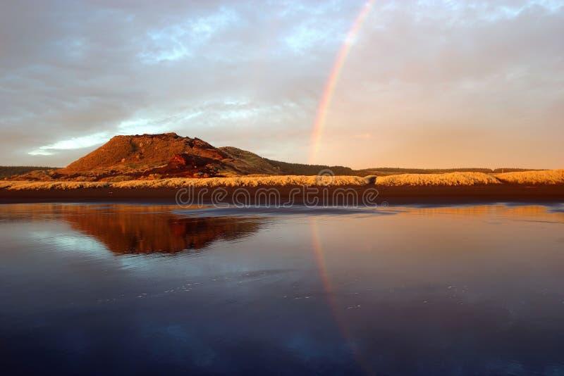 Rainbow di riflessione fotografia stock