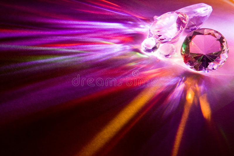 Rainbow diamonds royalty free stock photos