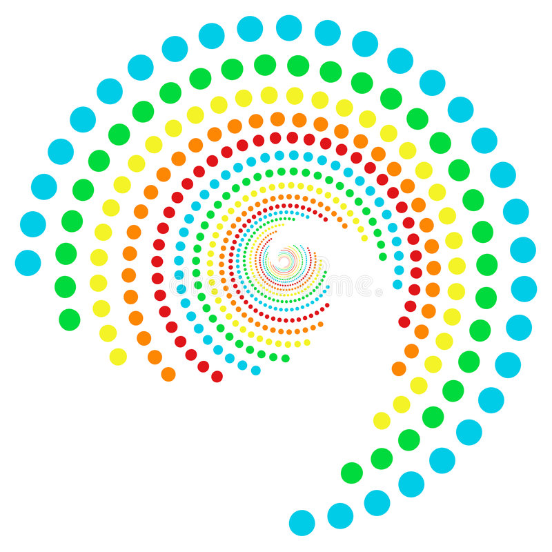 Download Rainbow dots spiral 2 stock vector. Image of pattern, icons - 6979927