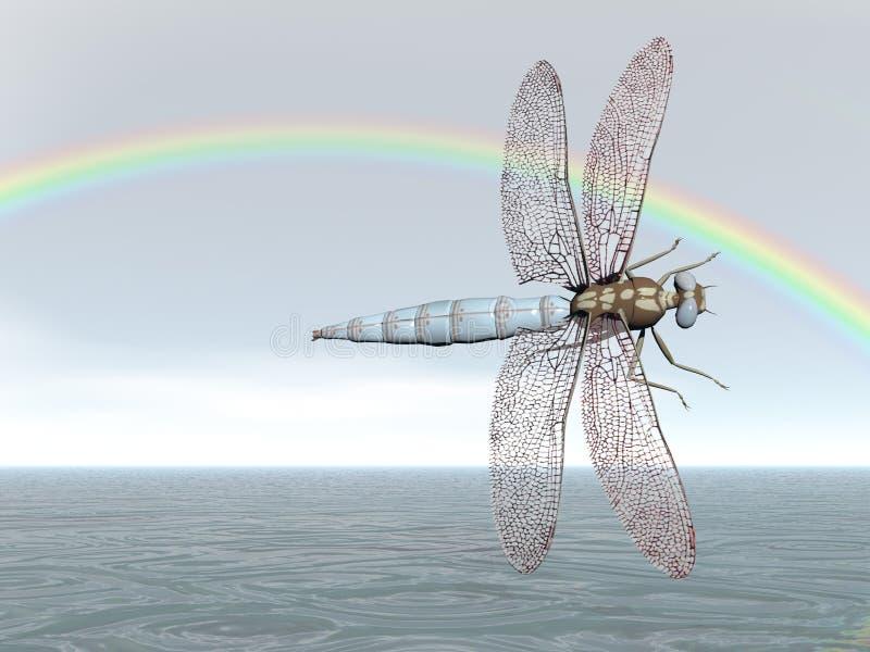 Rainbow Dragonfly stock photos