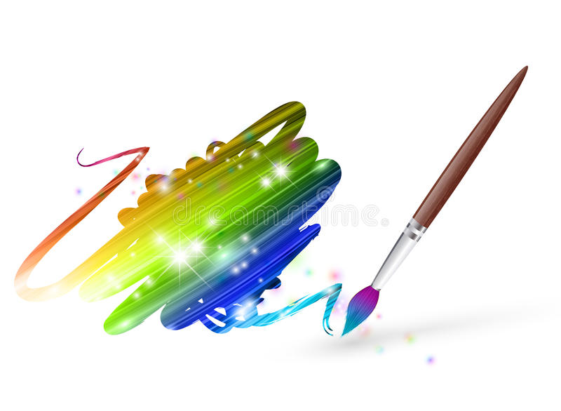 Download Rainbow drawing stock vector. Image of rainbow, paint - 21368060