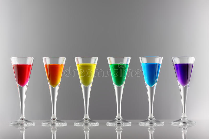 Download Rainbow Drinks I Royalty Free Stock Photography - Image: 17216407