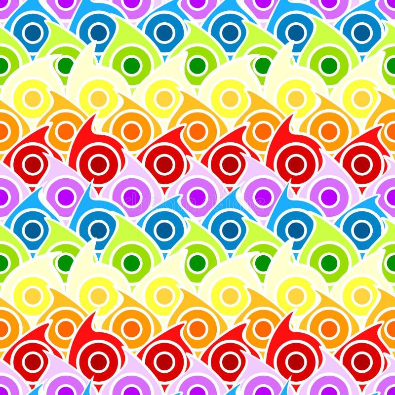 Rainbow drops seamless background royalty free illustration