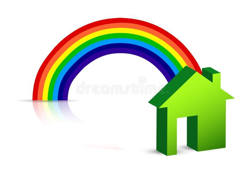 Rainbow e casa royalty illustrazione gratis