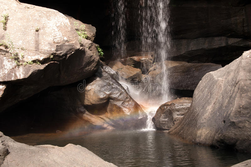 Download Rainbow at Eagle Falls stock image. Image of trees, streams - 26049487