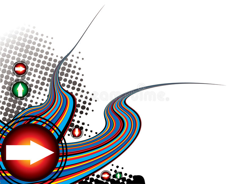 Rainbow effect modern royalty free illustration