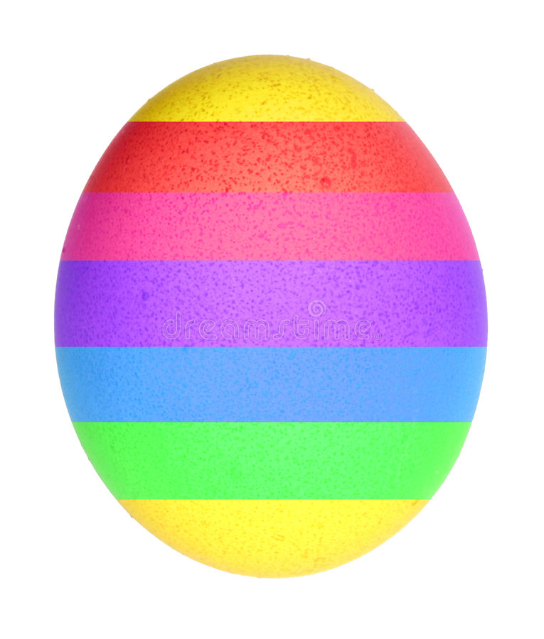 Rainbow egg royalty free stock photo