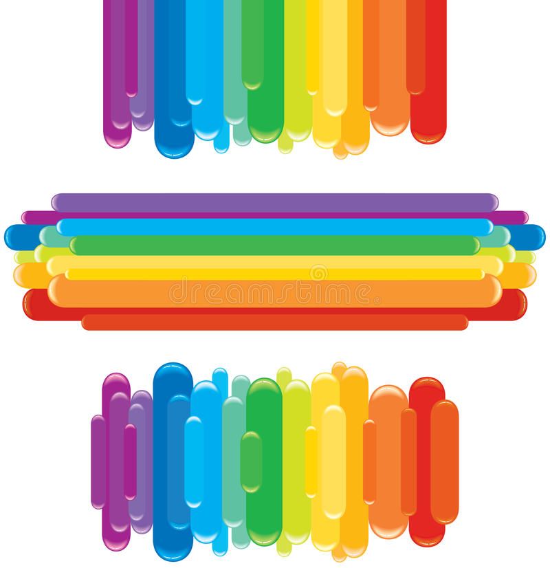 Rainbow elements stock images