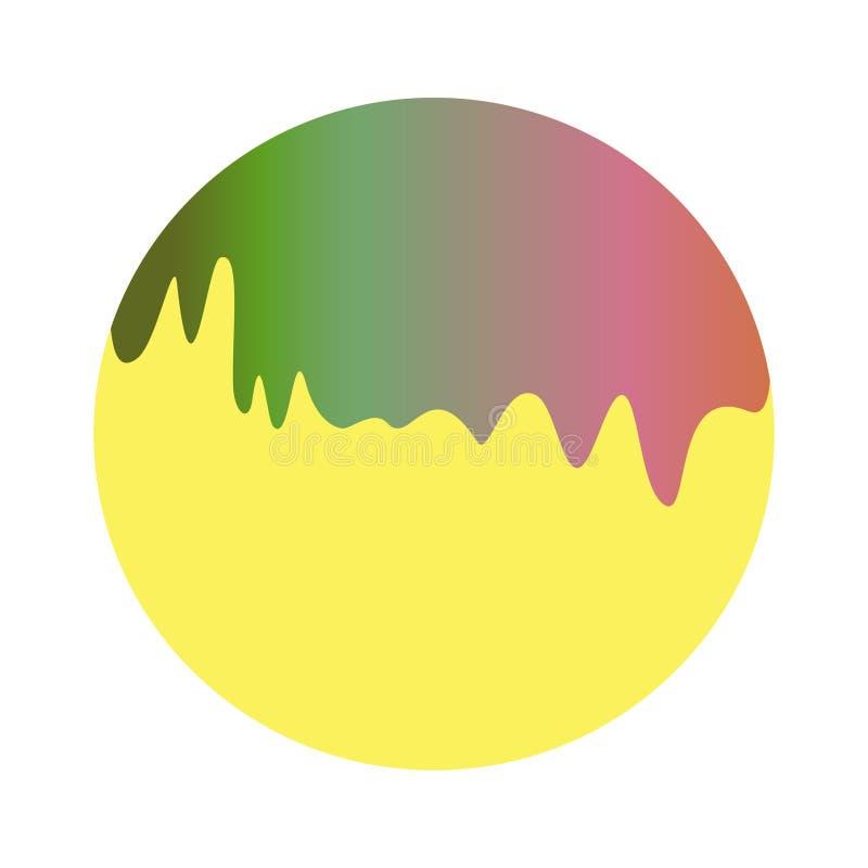Rainbow emerging liquid stock illustration