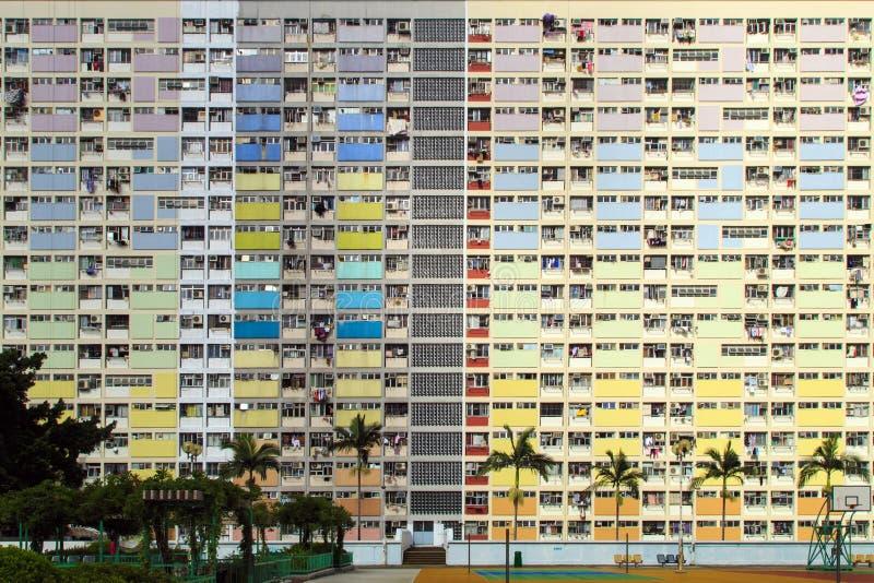 Rainbow Estate in Choi Hung, Hong Kong stock photo