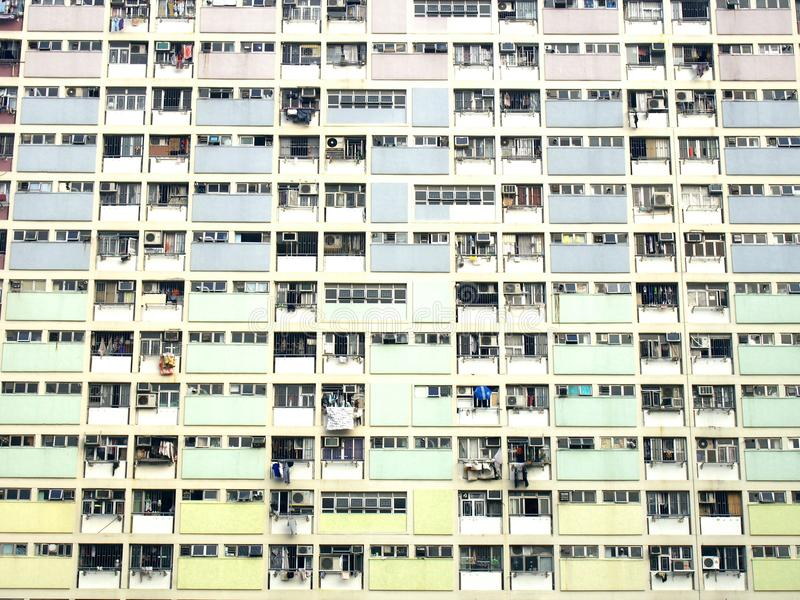 Rainbow estate in Choi Hung royalty free stock photo