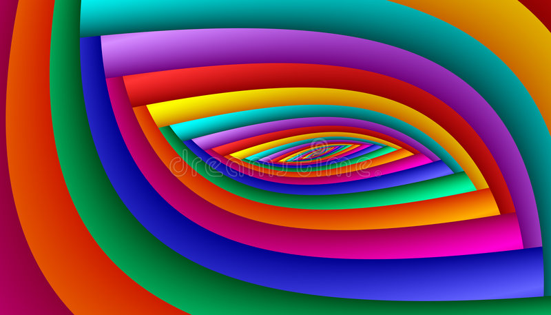 Rainbow Eye Abstract stock image
